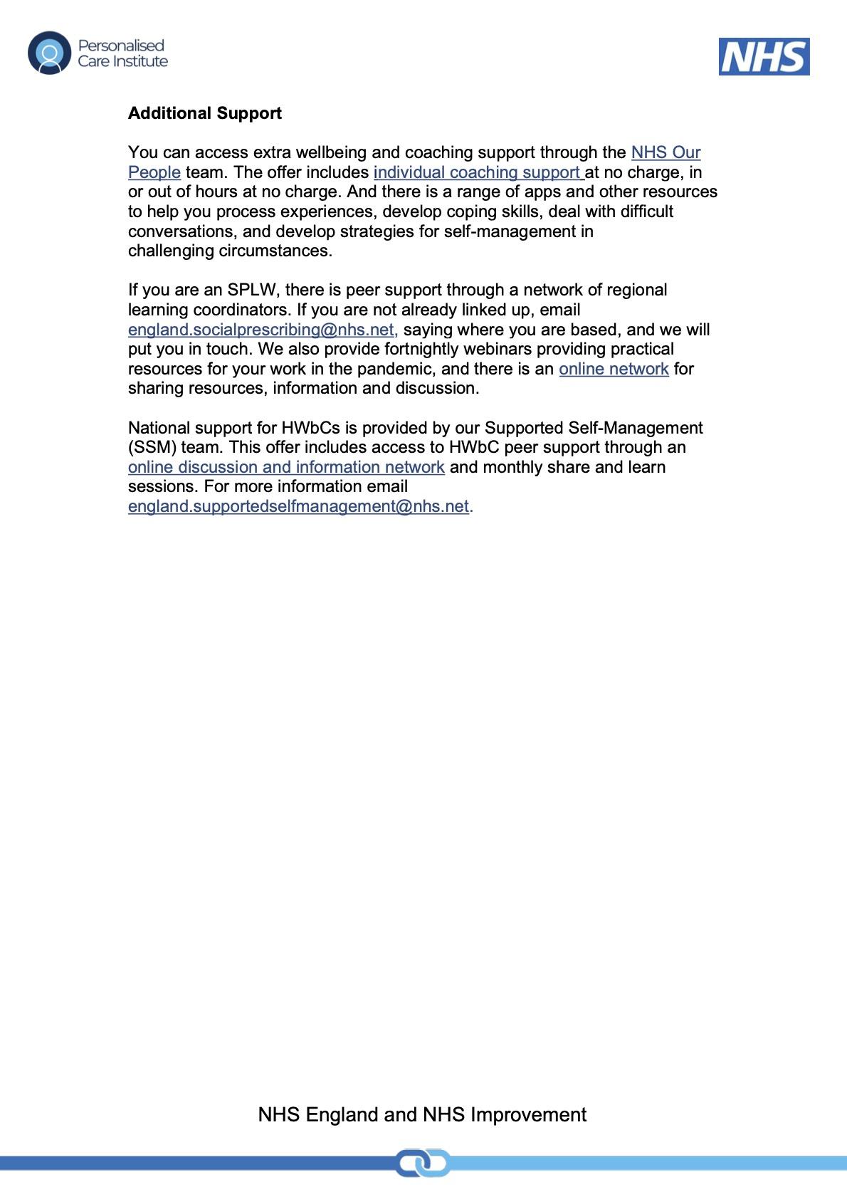 supervision offer SPLWs and HWBCs (1) 2
