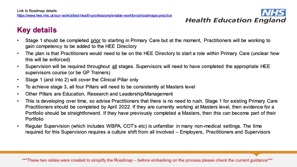 Overview of Primary Care Roadmap 2