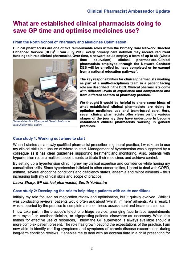 Clinical Pharmacist Ambassador Update Jan202